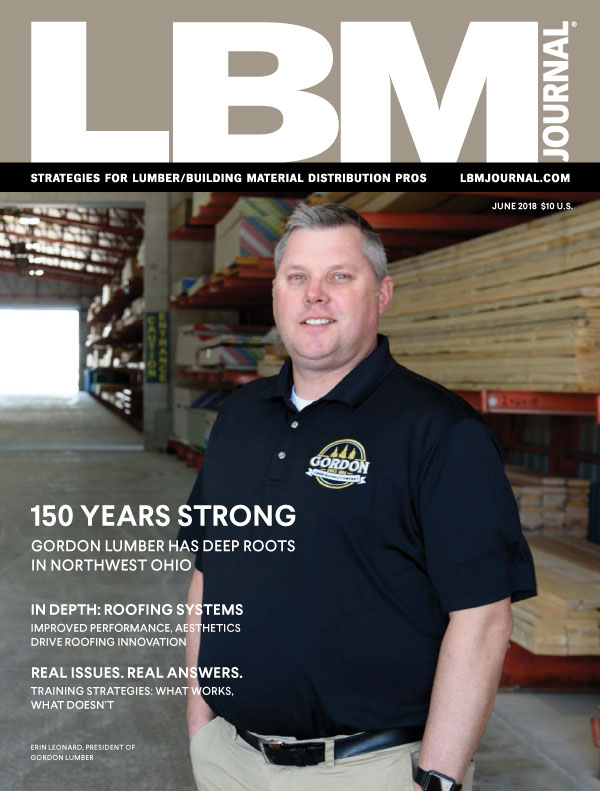 Gordon Lumber Cover LBM Journal June 2018